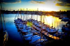 barche, foto con contorni