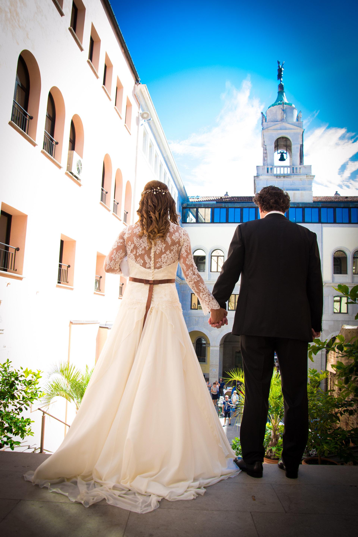 Sposi di schiena
