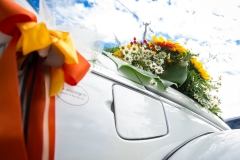 Ancora fiori sull'auto