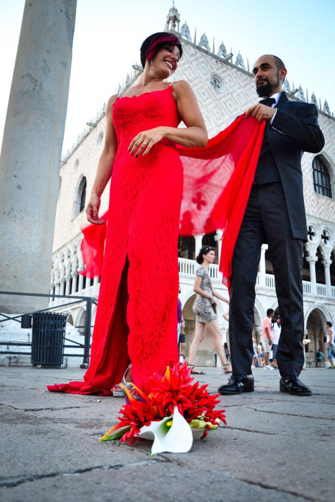 Matteo e Morena sposi a Venezia