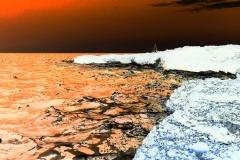 Altra spiaggia con effetto colorato