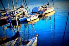 barche, effetto sfumato