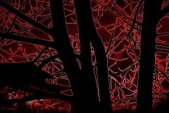 altri alberi con effetto neon